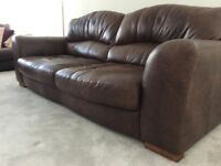 Large 4 seat Leather Sofa DFS cost over £1500