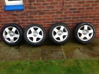 "Audi 16"" Alloy Wheels with winter tyres"