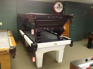 Pool Table Clearance 32 models must go!
