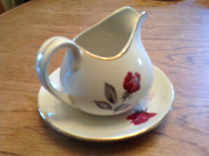 Crown Essex Creamer And Saucer
