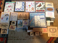 Craft Stampers Delight!  Box of stamps and supplies!