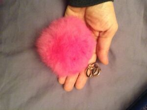 Fur key chain ball for your purse