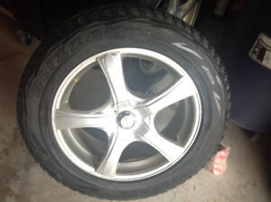 Bridgestone Blizzaks 235/60r18 on Alloy Rims