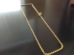 Solid 24K (99.99) Yellow Gold Necklace from Hong Kong