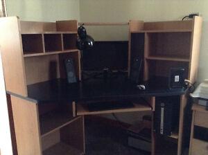 Large corner computer desk.