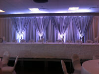 DJ Service, stunning drapery packages, monograms, and more!