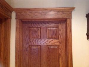 SOLID OAK BASEBOARDS AND WINDOW/DOOR TRIM - NEW