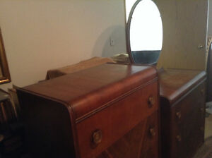 Two Piece Antique  1930s Dressers