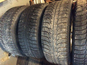 235 60 R16 Michelin X ice snow tires and rims Kawartha Lakes Peterborough Area image 4