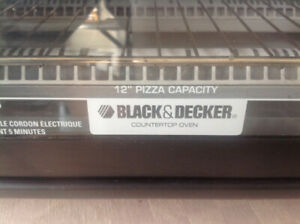 Black and Decker counter oven 12 in pizza