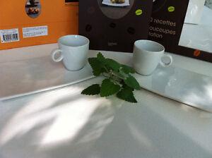COFFRET CAFÉ GOURMAND: LIVRE DE RECETTES 2 TASSES 2 SOUCOUPES Peterborough Peterborough Area image 4