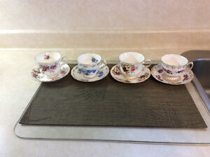 4 China cups and saucers