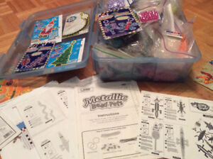 Beads with instructional books plus tote