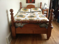 Solid Pine Cannonball Bed Frame