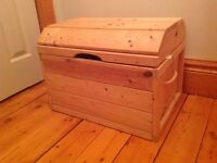 Solid pine toy chest