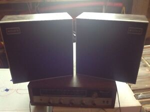 Vintage Stereo Receiver with Sony Speakers