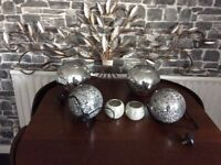 Wall art t silver lamps t silver bowls t silver candle holders