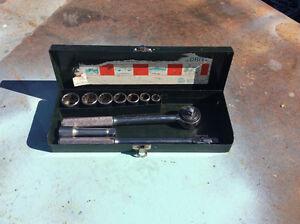 Socket set in box