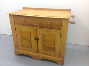 Antique Pine washstand - Commode antique en pin
