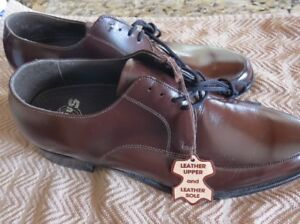 Brand New Men's Brown Leather (upper and lower) Shoes.  9.5 EEE.