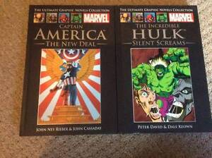 Marvel Graphic Novels Captain America Hulk Avengers New Unread Margate Redcliffe Area Preview
