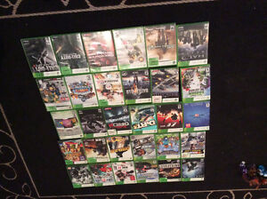 Xbox 360 with 2 controllers, 36 games