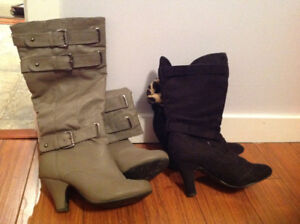 Size 7 boots. $5 for both.