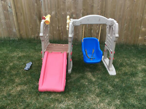 Little tikes swing and slide...