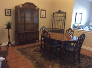 Dining Room Table and China Cabinet