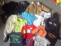 Large bundle boys clothes 1 - 2 years