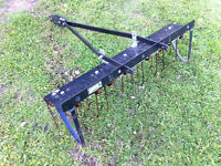 LAWN DETHATCHER FOR LAWN TRACTOR