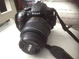 Nikon d3200 DSLR with standard lens