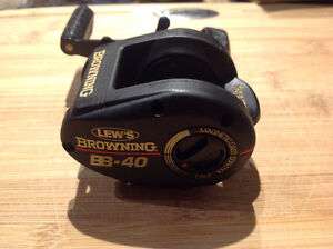Lew's BB-40 fishing bait casting reel Japan browning