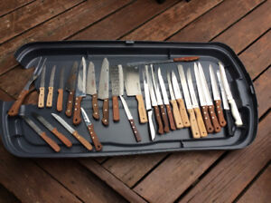 Lots o' meat cleavers & very sharp knives !