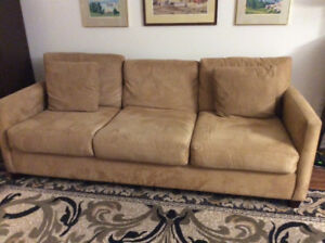 Beautiful 3 Seat Beige Chesterfield