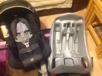 Graco car seat and quick fix base