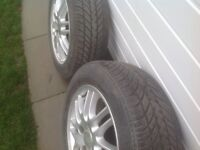 """Pair of ford 15"""" alloys very good tyres"""