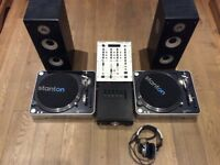 Stanton T60 Turntables, Behringer Pro Mixer and KAM Amp and Speakers