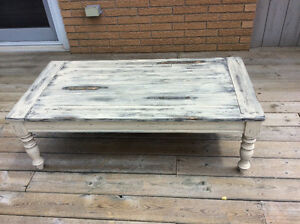 Refinished, Rustic, Distressed, Antique Look, Coffee Table.