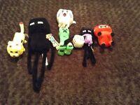 Minecraft fluffy toys