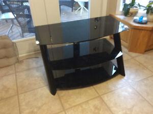 Modern black glass TV table $45.00