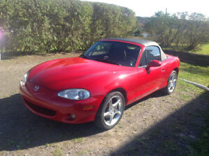 2003 Mazda MAZDASPEED MX-5 Miata Red Convertible
