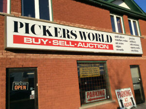 PICKERS WORLD BUY SELL AUCTION Now Open NEW LOCATION