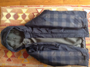 Brand new -Boys winter coat with liner & 2 pairs of snow pants