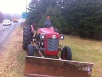 MSF tractor and wood splitter combo.