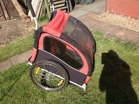 Bike carrier for 2 children