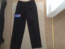 Boys School Trousers Charcoal Age 10-11 Years