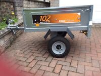 Erde 102 car trailer - like new, used once