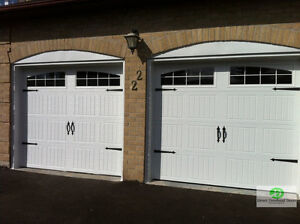 8x7 INSULATED CARRIAGE GARAGE DOORS.............. $900 INSTALLED