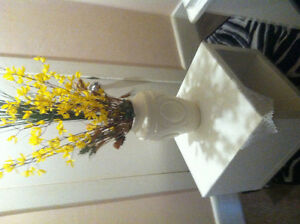 White table and vase